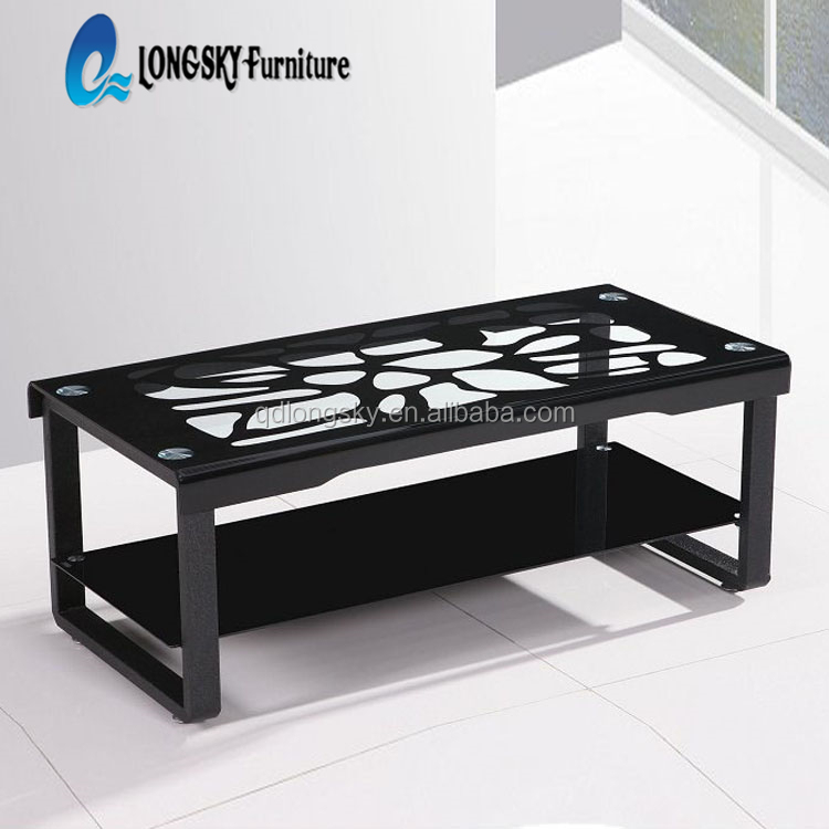 LS-1040 italian glass coffee tables hot sale short leg coffee table bent glass coffee table