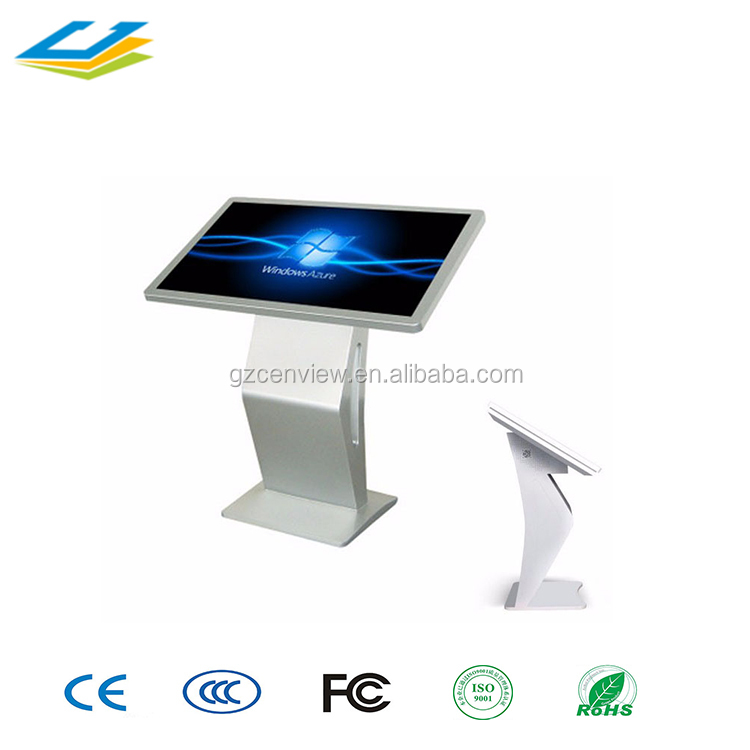 65 inch Magic interactive mirror kiosk, floor standing information kiosk self service touch screen payment kiosk