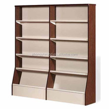 Promotion Wooden Magazine Rack / Book Display Shelf / Catalog Stand