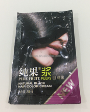 2017 New Product Pure Friut Natural Black Hair Color Cream, Hair Color Shampoo Factory OEM