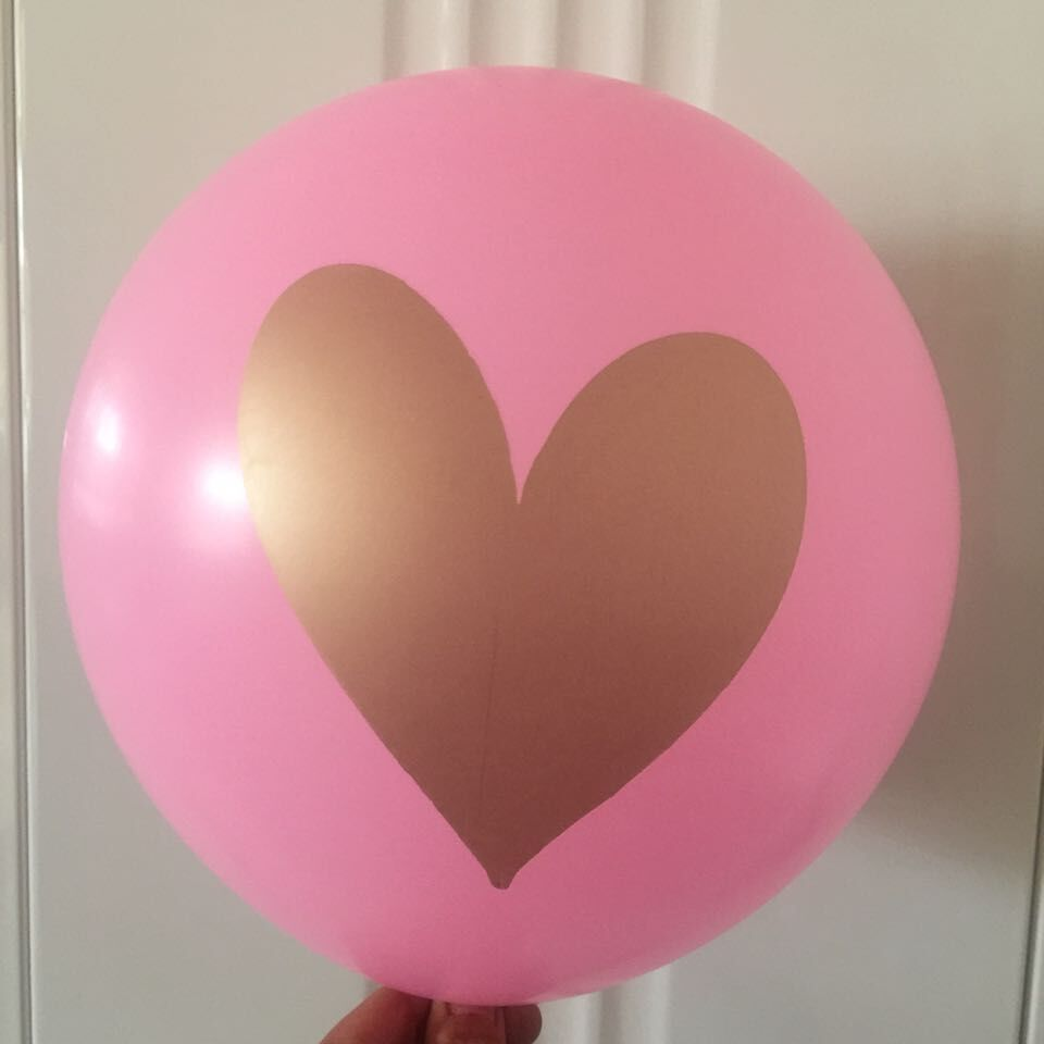 2.14 wholesale custom 100% natural gold shiny ink printed latex balloon For wedding and valentines day decotaration