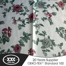 XXC new simple design 100% polyester faux linen fabric curtain
