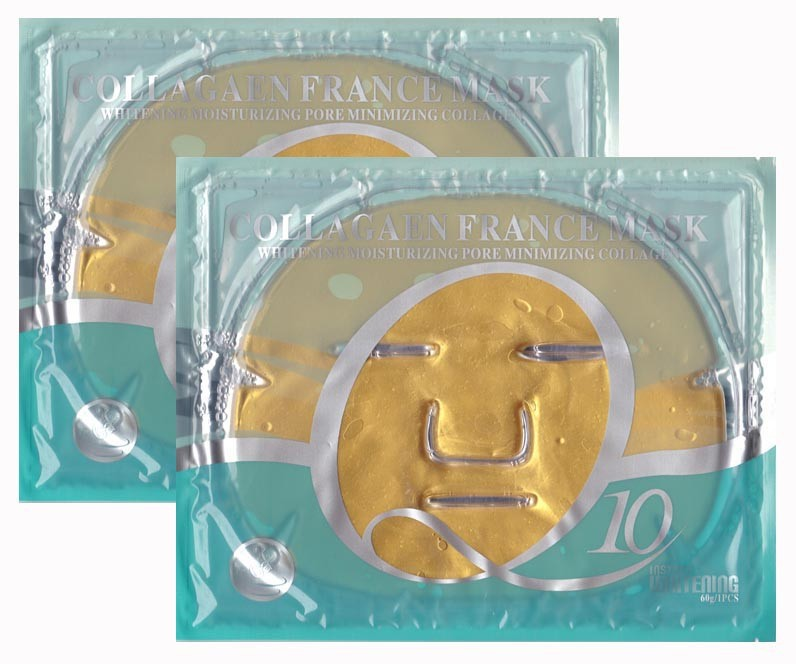beauty <strong>q10</strong> whitening <strong>gold</strong> collagen crystal facial mask with competition price