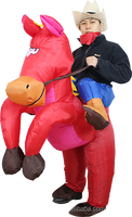 Germany standard inflatable red horse costume -44533