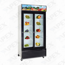 Sliding Door Commercial Refrigerator/Dynamic Cooling Upright Beverage Cooler