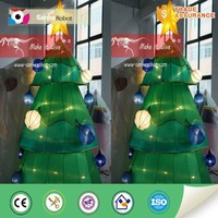 Artificial christmas street tree light decorations