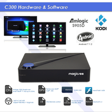 Magicsee C300 Android 7.1 Amlogic S905D TV BOX DVB OTT box OTA updated android hybrid set-top box
