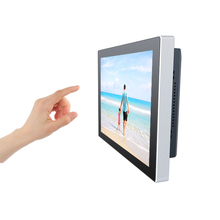 Support JAVA game software 12 inch touch screen all in one pc with multi language OSD operation