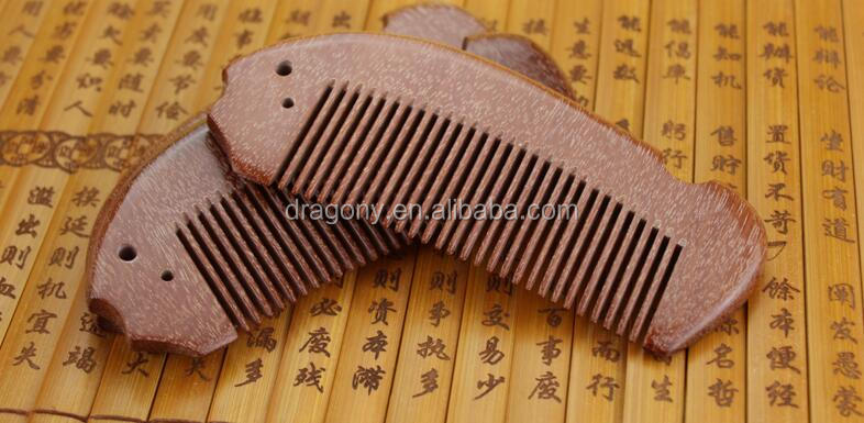 Wholesale Grooming Sandalwood Facial Comb Beard Combs