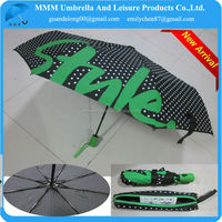 STYLE-green dot full printing auto open and close 3 fold umbrella
