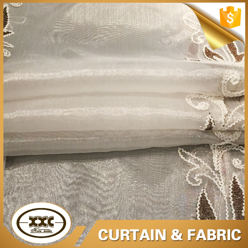 XXC famous designer latest curtain organza embroidery