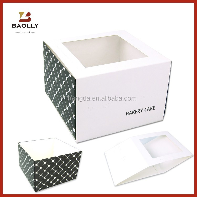 Customized Cupcake Box With/Without Window Sweets Box Design
