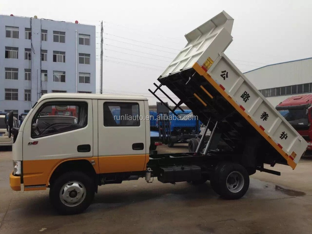 Hot! 3 tons dumper truck double cabine 3 ton dumper mini