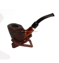 "5.5"" handmade wooden smoking pipe Carved Rosewood Tobacco pipe VEH-02827 with free folding pipe stand"