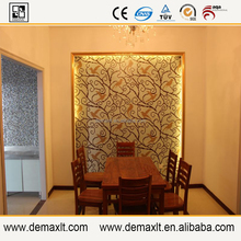golden and ring shape glass mosaic tile fgor childern room decor