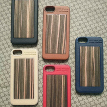 hybrid wood phone case with tpu for iphone 7/8, 2 in 1 back cover case