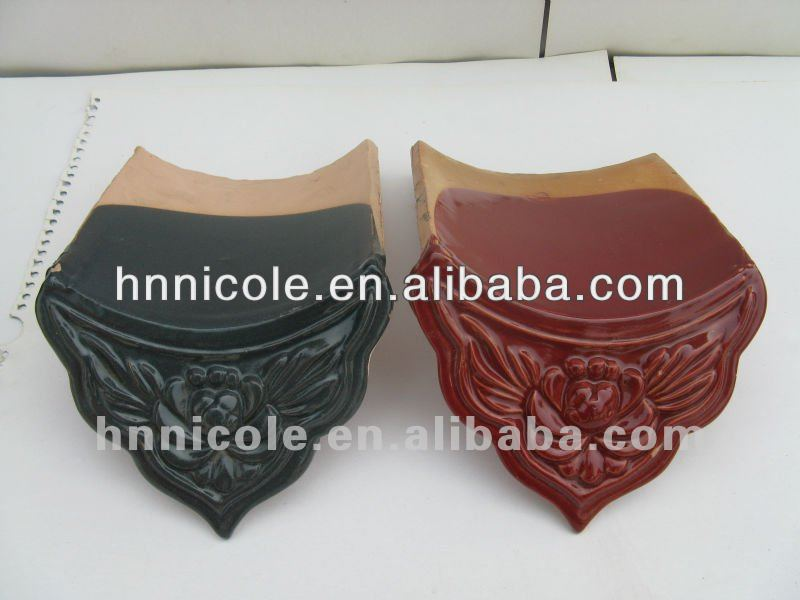 chinese antique brown color metal roof tile for classical building