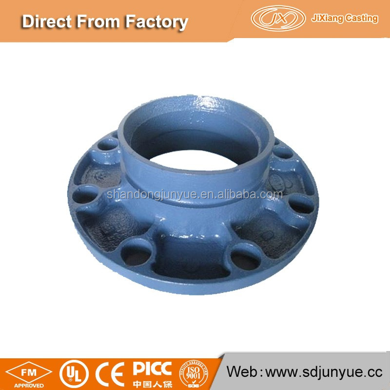 Hot Sale In Korea Market Ductile Cast Iron Sand Casting Grooved Pipe Fitting Split Flange with JX Casting Factory