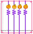 Thick plastic art drinking straw for Halloween party decoration