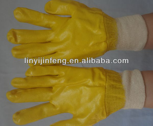 wholesale palm dip gloves nitrile palm dipping work gloves