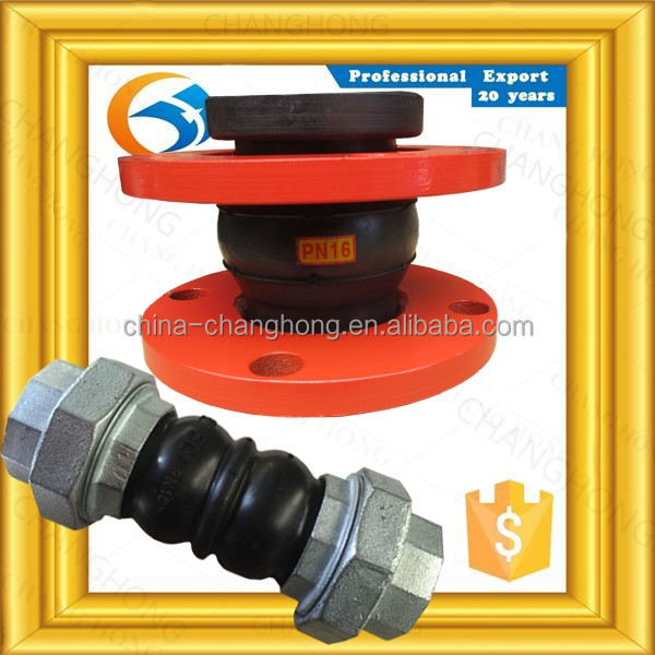 Factory directly sale UNI din flange rubber expansion joint with flange