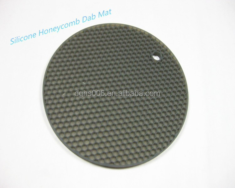 Silicone Honeycomb Dab Mat,FDA heat resistant pot holder mat hot mat,colorful place mat