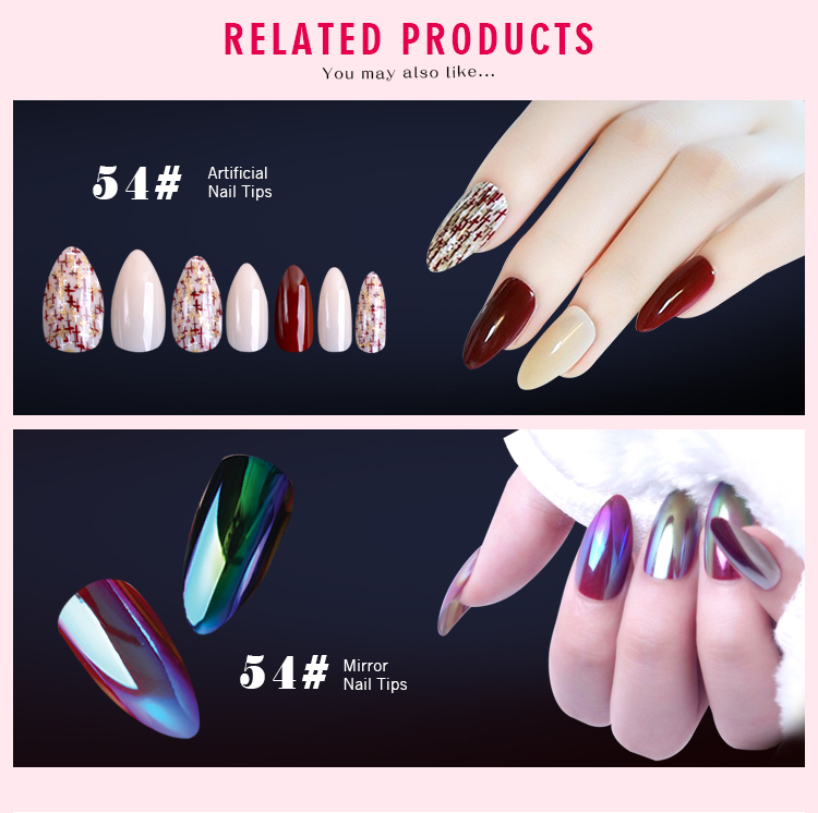 EA wholesale mirror effect decorative metal eagle nail tip