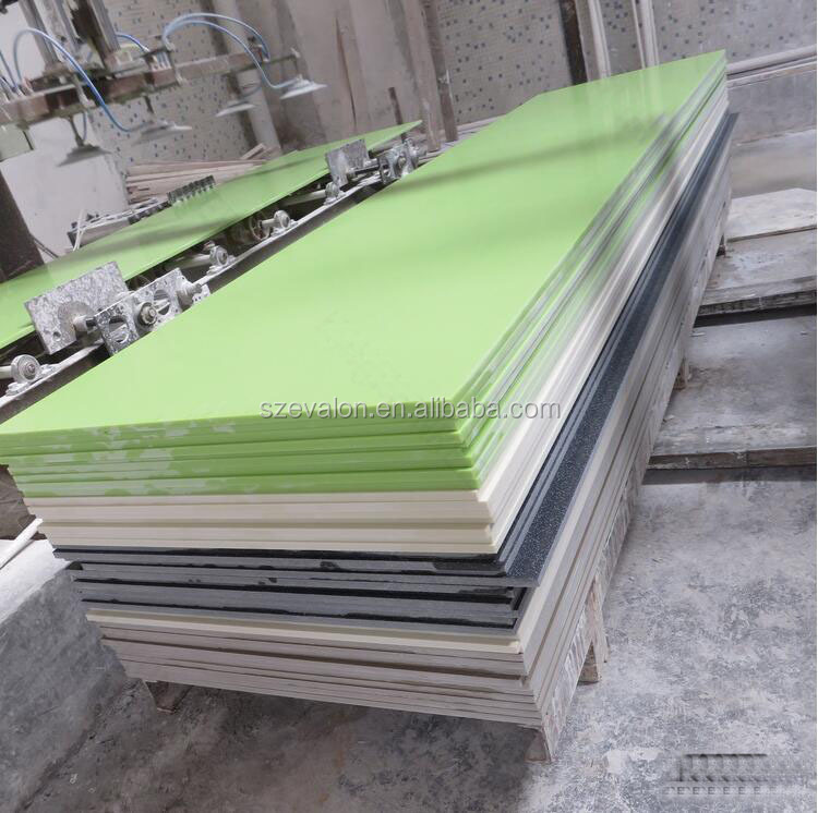 green solid surface building material synthetic artificial stone tile,Artificial acrylic solid surface sheet