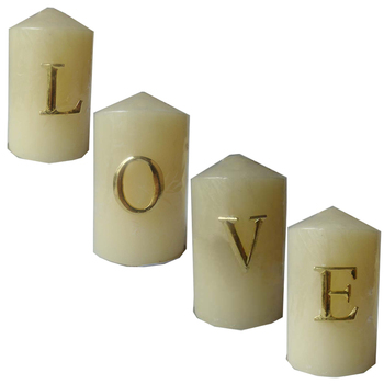 Gold Plating LOVE Metal Candle Pin