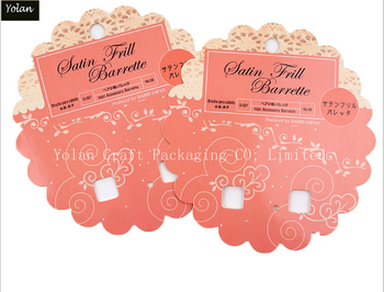 Custom necklace and earing packaging cards