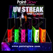 Paintglow-neon/<span class=keywords><strong>pelo</strong></span> uv mascara-fluorescente mechas de