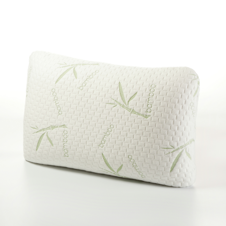 Healthy Hypoallergenic Miracle Neck Shredded Memory Foam Bamboo Pillow