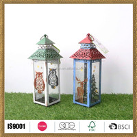 wholesale owl printed moroccan christmas lanterns