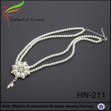 sun shape pendant necklace with white peral 2016 new design