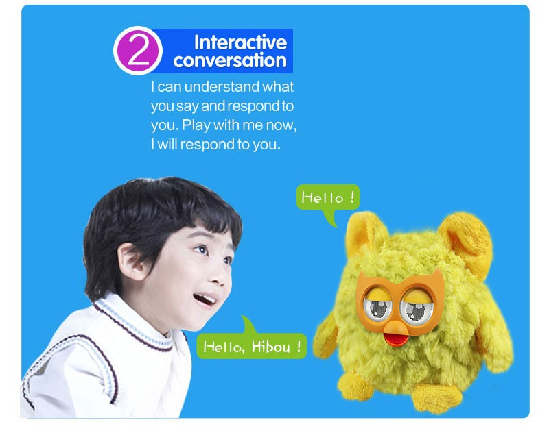Electronic interactive pets with the big hibou , interactive with kids smart watch , dancing and singing pets