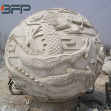 Marble dragon head ball stone sculpture