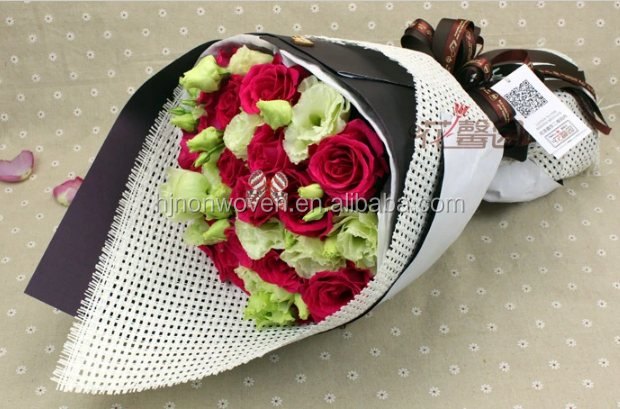flower wrapping paper mesh