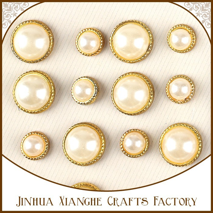 Creative Impressions Mini Round Pearl Scrapbook Brads Ivory Color