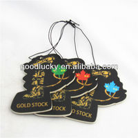 Guangzhou factory tiger shape Car freshener paper air freshener/refresh car air fragrance