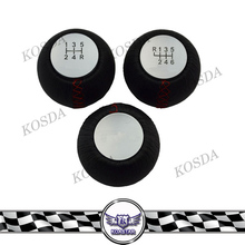 Car 5/6 Speed Auto Gear Shift Knobs,Black Leather Gear Knob Shifter