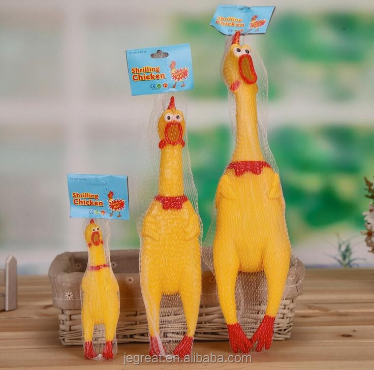 17/30/42CM size Fun Pet Dogs Puppy Stress-Relieved vent Squeeze Screaming sound Hen Shrilling Chicken Vinyle toy