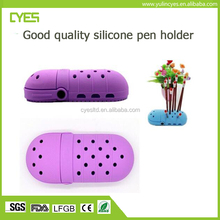 Wholesale big promotional unique design soft durable silicone pen container stand holder
