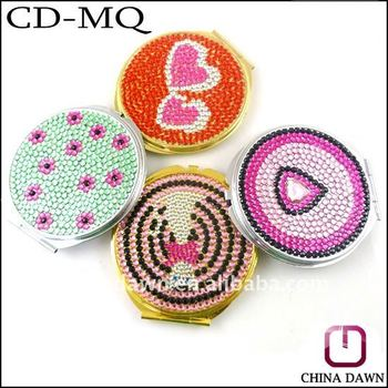Promotion gift fully diamond cosmetic mirror CD-MQ