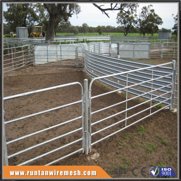 Hot dipped galvanized goat prefab pipe fence panels steel corral gate