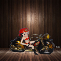 Resin Motorcycle Rider Home Crafts Decoration