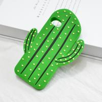 Wholesale Manufacturers Cactus Custom Design 3d Accessories Silicone Cell Phone Case for iPhone 8 7 6 Plus X Mobile Cover