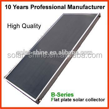High quality Heat Pipe flat plate solar collector for swimming pool heating