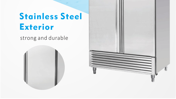 Stainless Steel Upright Commercial Refrigerator For Kitchen