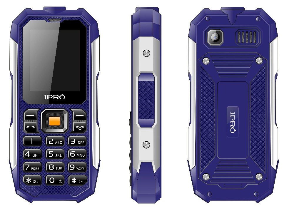"Waterproof Shockproof 2.0"" 2500mAh Dual SIM Outdoor rugged feature phone Transparent Phone Price"