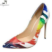 Popular New Design Colorful Stiletto High Heels Hotsale China Competitive Price OEM Custom Print Shoes Women Dress Shoes